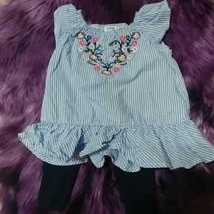 Girls 2 Piece Bebe Ruffled  Outfit